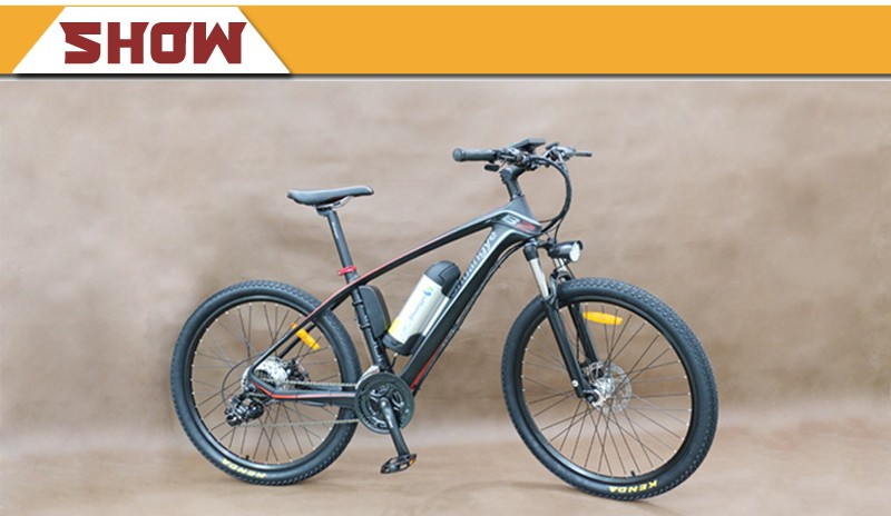 2017 made in china carbon fibre frame electric mountain bike