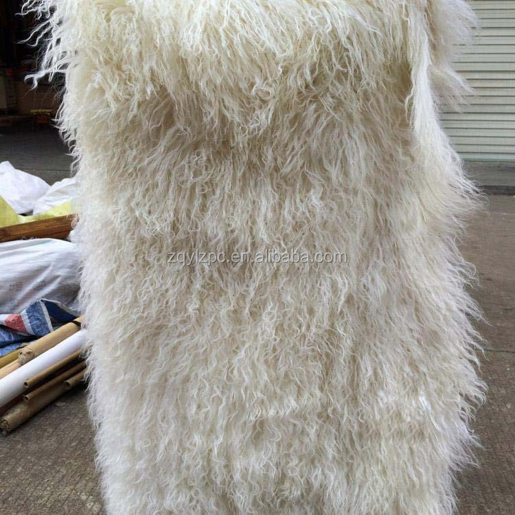 Natural Tibetan Lamb Rug Goat Skin Blanket Mongolian Blanket Sheep Fur Entertainment Memorabilia