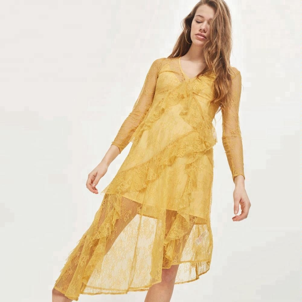 Sexy Indian Girl In Transparent Yellow Lace Dress Buy Lace Dresssexy Indian Girl Without Bra In Transparent Dressyellow Girl Dress Product On