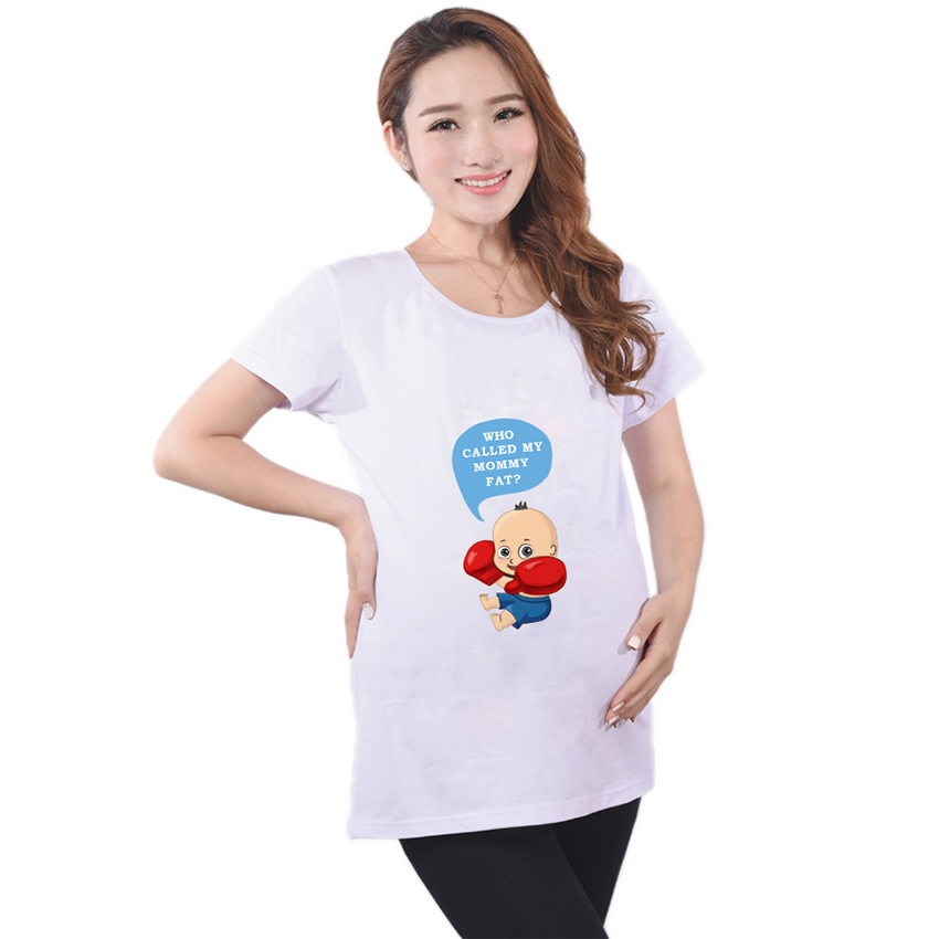 c307cc988f7e8 Hot pregnant t shirts boxing baby print pregnancy clothes funny ...