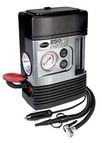 Slime COMP Tire Inflator w/ Raft Pump and Light