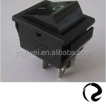 Without Neon Lamp Black Rocker O I Marking Kcd Series 4 Terminals ...