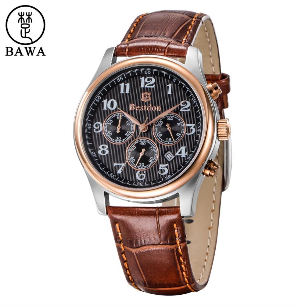 Fine Mens Wrist Watch Luxury Brand BESTDON Fashion Casual ...