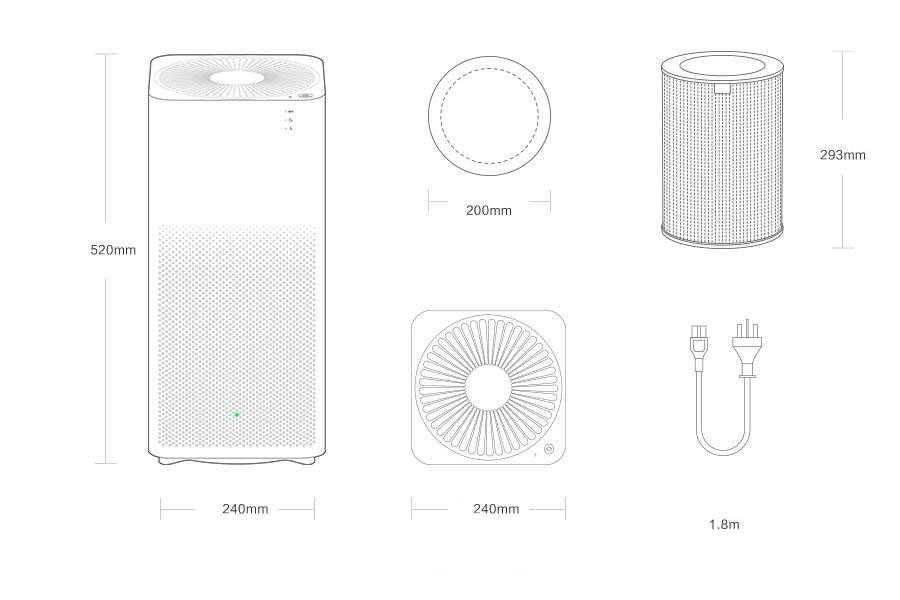 Xiaomi Mijia Smart Home Mi Air Purifier 2 Air Conditioning Appliances Purifying Purifier2 White In Stock