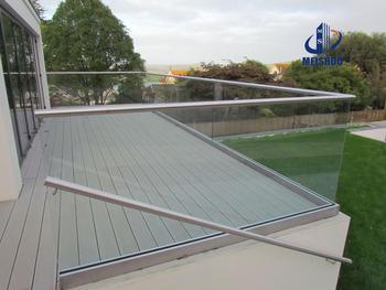 Balcony Frameless Glass Balustrade Channel In Railing System Buy