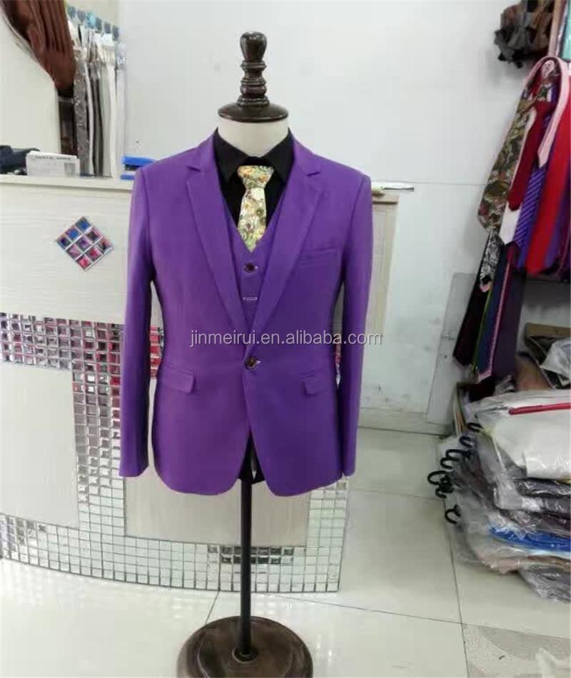 Encuentre el mejor fabricante de traje morado hombre y traje morado ...