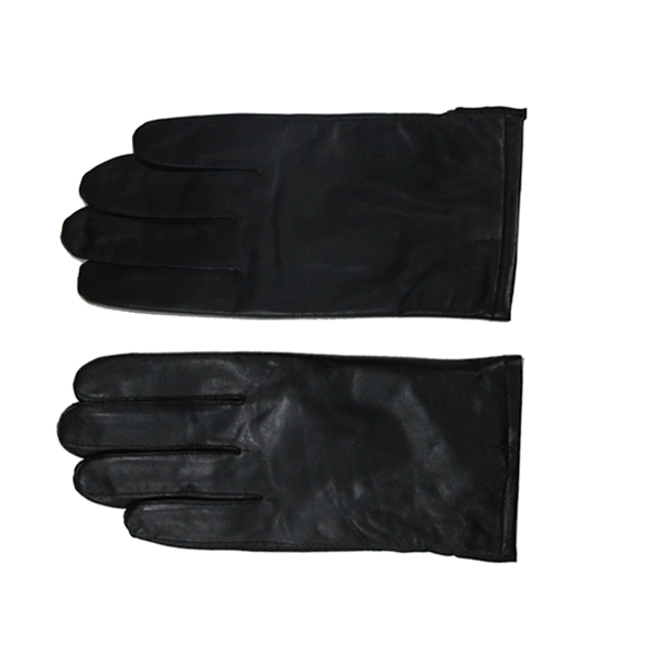 Simple Design Plain Style Men Leather Touch Screen Driving Gloves