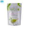 Stand up ziplock bag package organic matcha green tea powder pouch / aluminum foil matcha green tea powder bag