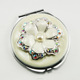 Metal Antique Jewelled Makeup Compact Mirror Decorative Mirror For Wedding