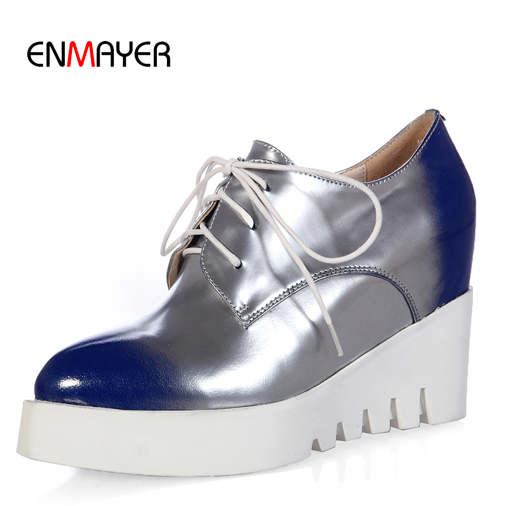 2016 latest designed cow leather upper lady thick sole casual slip on shoes wedge sneakers
