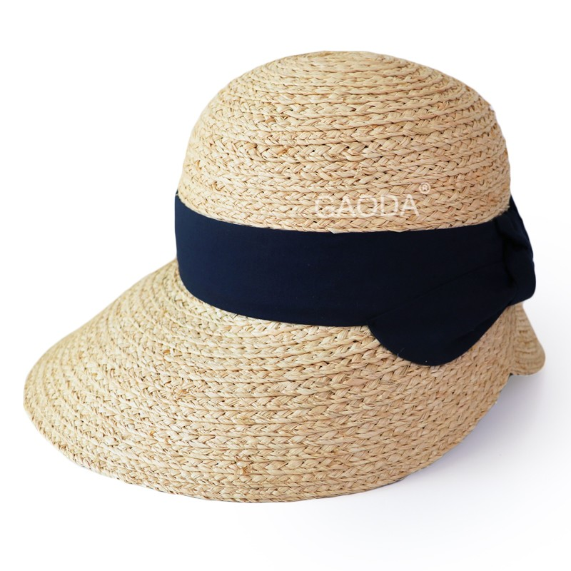 Factory offer custom raffia straw big sombrero hat