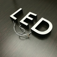 custom epoxy resin channel letter led illuminated sign board for shop