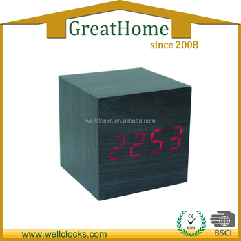 Hot Sale LED Wood Digital Clock