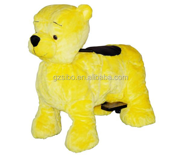 GM5920 hot sale plush walking pony toy in ride