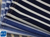 280GSM Indigo Stripe Cross Knit Denim Fabric