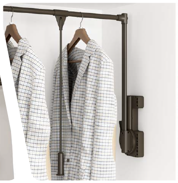 Moden Wardrobe Pull Down Rod With Soft Closing Closet Clothes Product On Alibaba