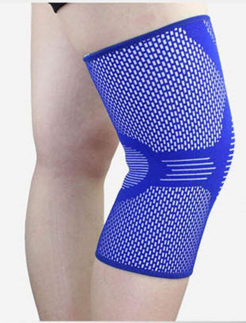 Wonzone Compression Knee Sleeve - Relieve Knee Pain, Runners Knee, Patella - Compression Knitting Breathable Knee Pads Brace Support (1 Sleeve)