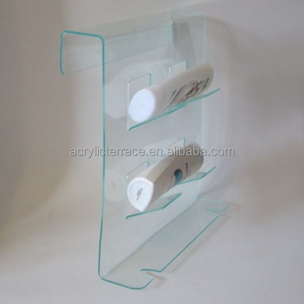 Ha1403023044 shower caddy acrylic bathroom shelf lucite for Bathroom accessories acrylic