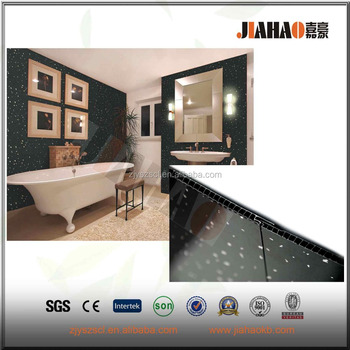 Simple Elegant Black Sparkle 8mm Wall Panels Bathroom Ceiling Panels Kitchen PVC Shower Wet Wall Cladding Simple - Style Of pvc shower wall panels Unique