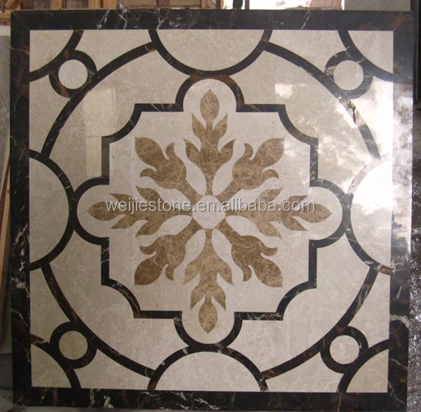 Marble Floor Pattern 1x1 meter waterjet marble pattern floor design,modern marble