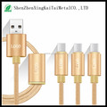3 in 1 charging cable 3 in 1 USB data cable for android ios iphone6
