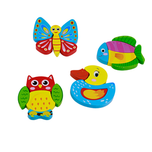 Funny animal wood puzzle game toy for kids