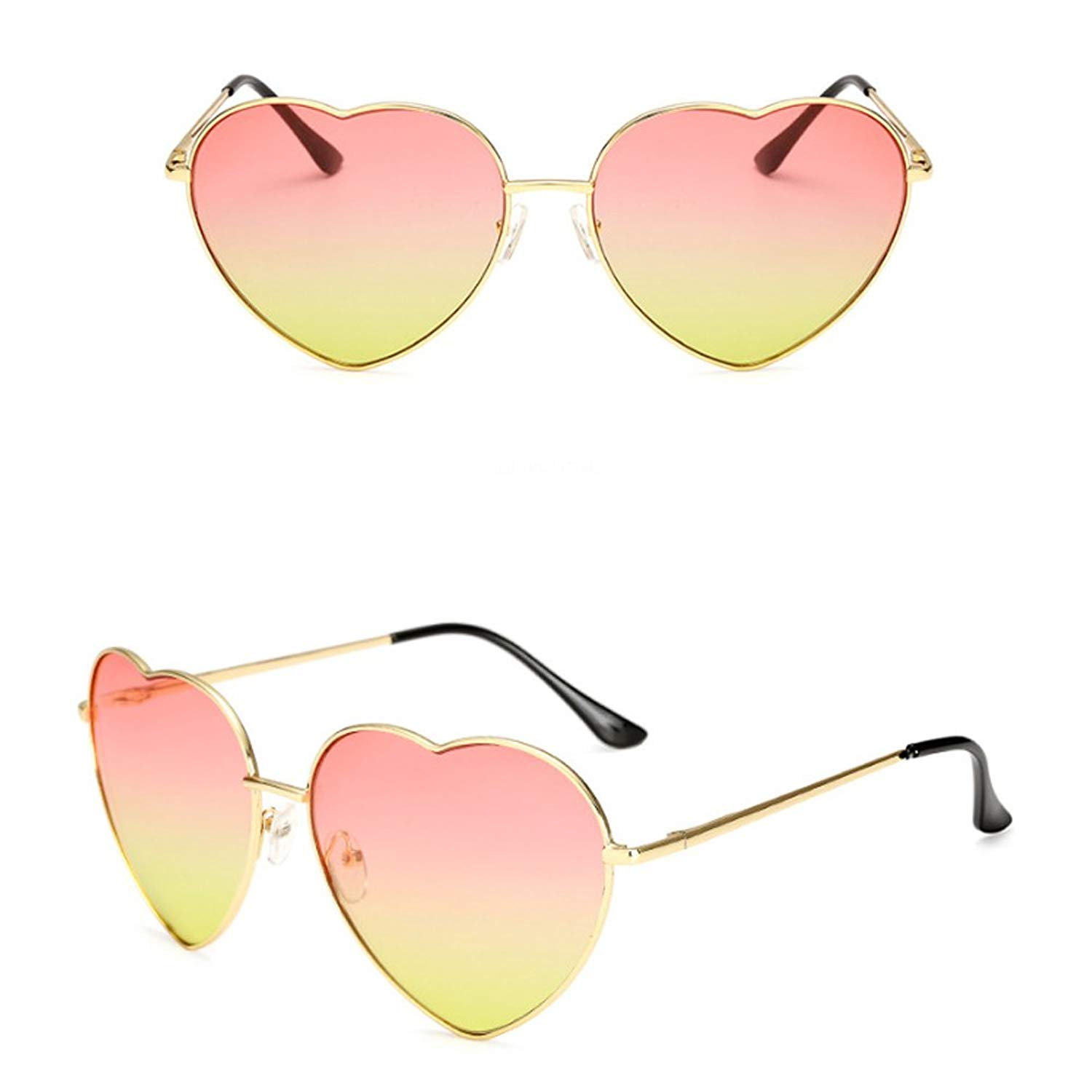 02f7d703bd7a GAMT Retro Heart Sunglasses With Thin Metal Fram Aviator Sunglasses For Men  And Women