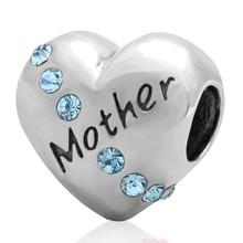 Sambaah мама сердце Шарм 925 Серебро Любовь Мама бусина с надписью «grandma» подходит оригинальный Pandora День матери Семейный Браслет(Китай)