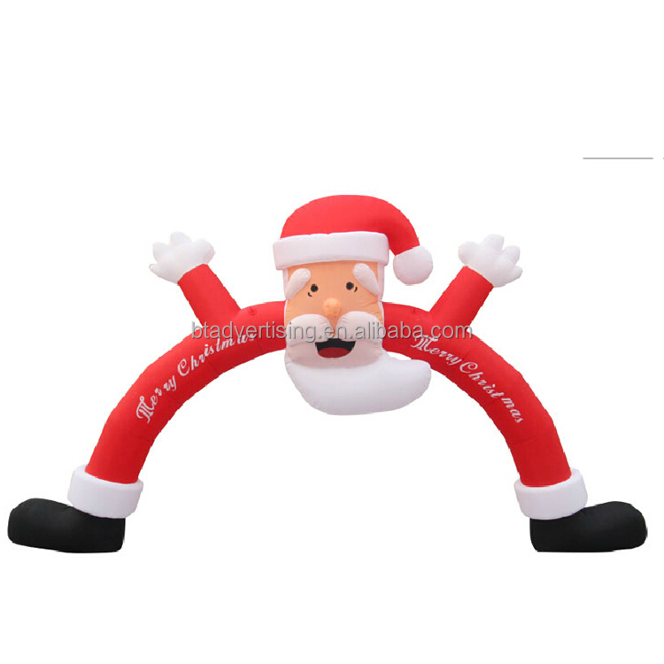 BT-WX 019 Waterproof oxford cloth outdoor santa claus christmas decoration light inflatable arch