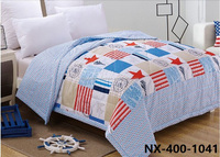 Applique handmade cotton quilts for boys
