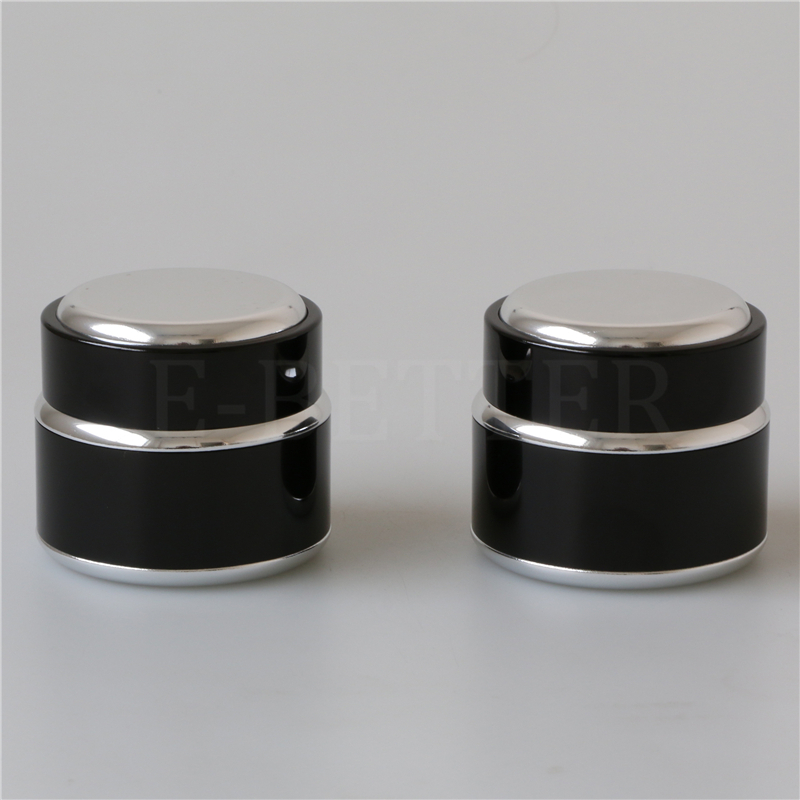 empty luxury aluminum cosmetic nail gel jar 10g