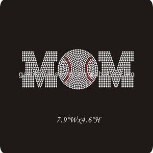 iron on baseball mom heat rhinestone transfer for apparel
