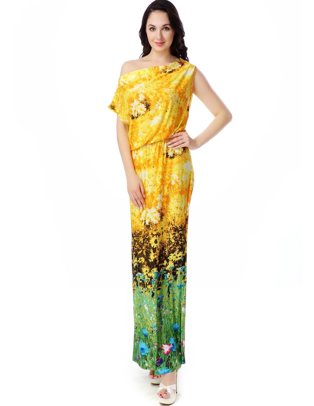 Women Summer Beach Dress Plus Size 6XL Printed Bohemian ...