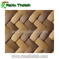 Plastic bamboo weave matting panel sheets