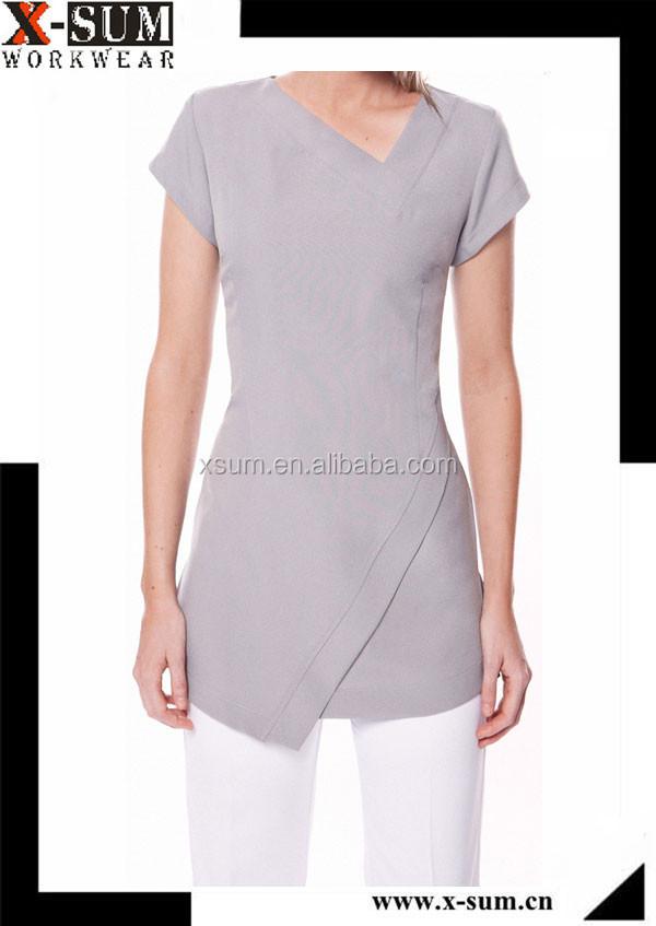 Mujeres spa sal n de belleza uniforme ropa de trabajo for Spa uniform alibaba