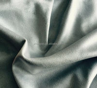 90%polyester 10%spandex weft knitted double faces spandex suede fabric