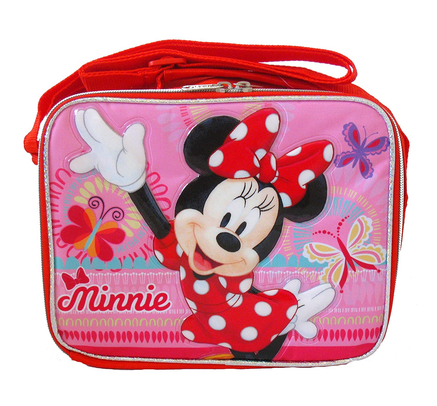 26404c82ad2 Get Quotations · Disney Minnie Mouse Soft Lunch box bag