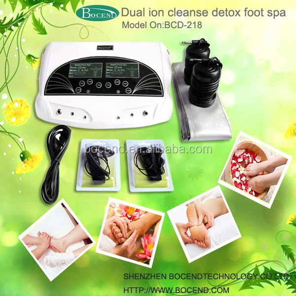 Dual system ion detox foot spa device for detoxification to get rid of toxins
