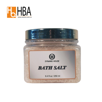 2018 most popular low MOQ best skin care body white lighting bath spa salt for sale
