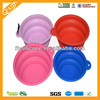 China Factory Supplier Colorful Cheap Flexible Collapsible Silicone Space Save Travel Pets Dog Cat Dish Feeder