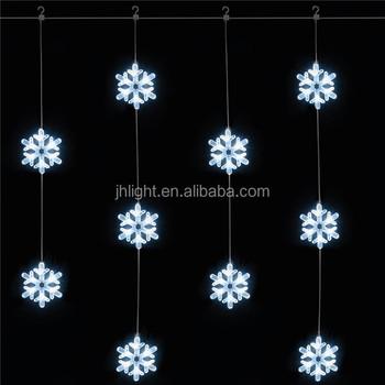 Snowflake Christmas Lights.Christmas Trees And Lights Snowflake Curtain Light Crystal Snowflakes White Led Christmas Light Buy Christmas Trees And Lights Snowflake Curtain