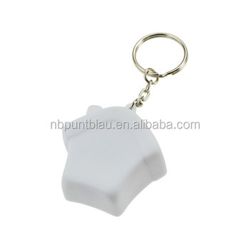 Best selling plastic home keyring house keychain with changing light color