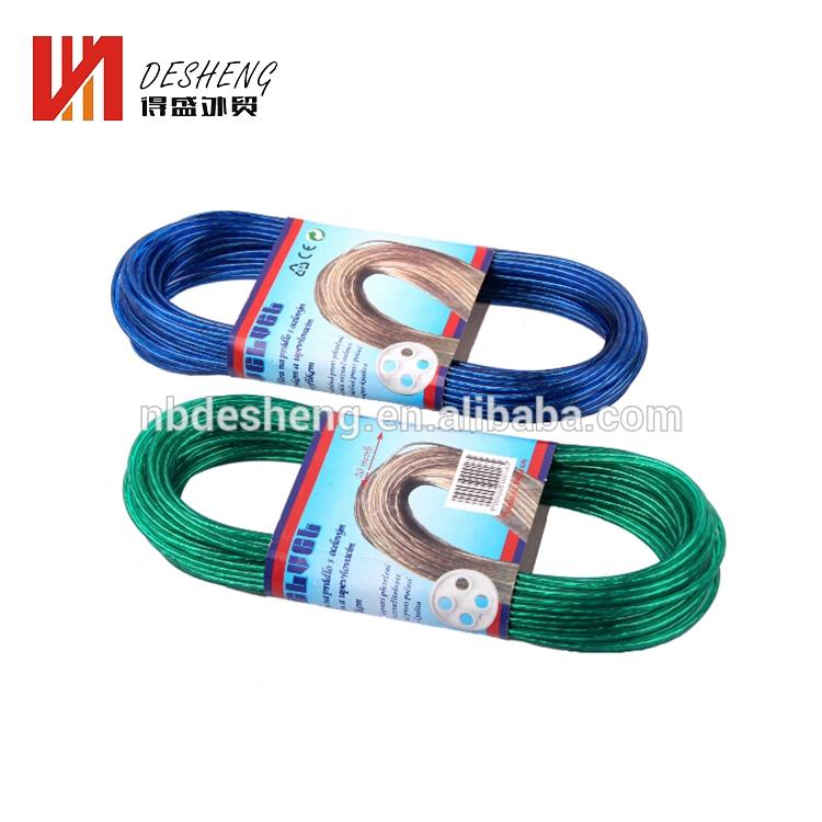 Commercio all'ingrosso esterno 5mm x 20 m PP Materiale Colorato Clothes Line Rope