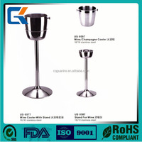 unique design Ice Bucket with Stand Galvanized Metal Party Ice Bucket with stand