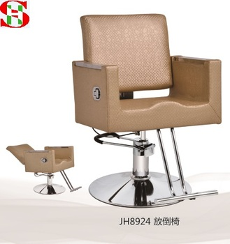 Sensational Salon Furniture Used Reclining Barber Chair Salon Hairdressing Chair With Bright Golden Leather Jh8924 Jh8945 Buy Reclining Hairdressing Gmtry Best Dining Table And Chair Ideas Images Gmtryco