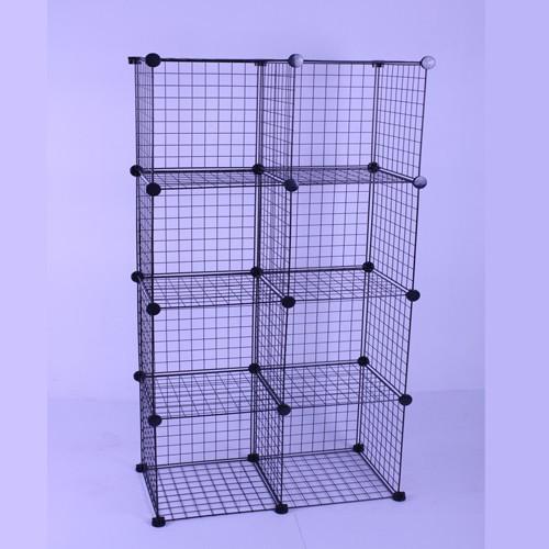 8 cubos de alambre negro de almacenamiento de mueble estantería ...