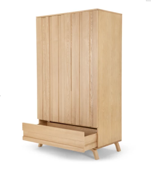 Bedroom scandinavian furniture oak armoire wardrobe furniture