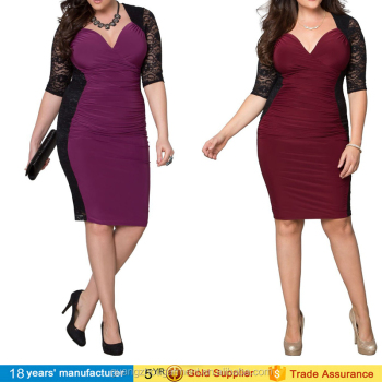 China Cheap Supplier Formal Plus Big Size Night Lace Cocktail