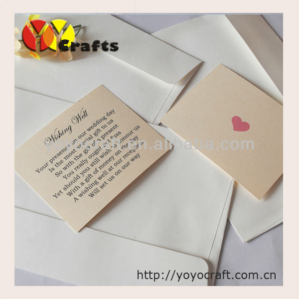 Elegant design wedding party favors unique debut invitations card with envelope