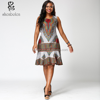 79a3be8ff8e24 ZH-013 African fashion wax print kitenge dress designs 100%cotton plus size  women